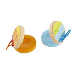 【紫貝殼】『CGC04』德國 Hape 愛傑卡 音樂響板(隨機出貨,不挑色)【店面經營/可預約看貨】