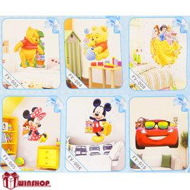 【winshop】B1656 迪士尼3D立體壁貼/Disney維尼創意壁貼 居家佈置 裝飾貼紙 窗貼 立體牆貼