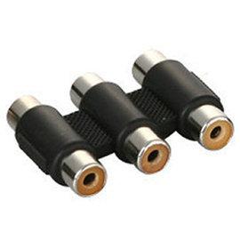 RCA AV端子 蓮花三通 3母對3母 延長轉接器/轉接頭