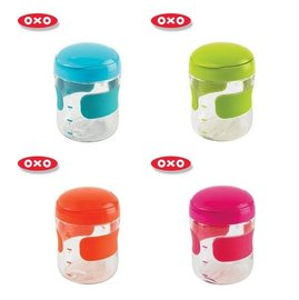 【紫貝殼】『DA05』【美國 OXO】大容量隨行掀蓋零食杯/掀蓋式點心盒/糖果保存罐/ 儲存盒250ml 橘/綠/藍/粉