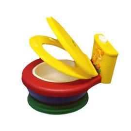 【紫貝殼】 『HD08-3』JK 長頸鹿音樂幼兒馬桶座椅/ 兒童學習便器