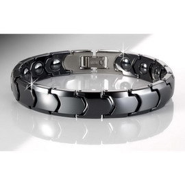 Fujida~黑騎士~陶瓷健康能量手鍊 ^(FT010^) ^~內鑲磁石
