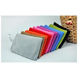 4.3吋平板專用 珠扣手機袋/雙層絨布袋/布絨袋/手機殼/手機保護套 [ABO-00017]