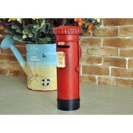 zakka 精品雜貨 Vintage 英倫風 英國LONDON 街頭經典紅色郵筒 郵件箱模型擺飾 存錢筒 儲金筒 存錢罐