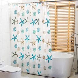 Loxin~加厚PEVA 浴室防水浴簾 ~SA0543~180~200cm 浴簾 門簾 衛