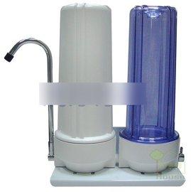 ^~家事達^~ 清淨~桌上型2道雙效濾水器 淨水器 含 及2道NSF棉質PP 美國CTO濾