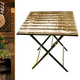 60cm鋁製竹節正方折合桌 P020-77241 (折疊方型茶几.置物摺疊桌.洽談桌.餐桌子.休閒桌.庭園桌.傢俱家具傢具特賣會)