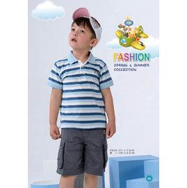 BABY KING 3171條紋POLO衫100cm~150cm