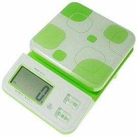 日本 DRETEC 多利科 幾何圖形料理電子秤 KS-221-GN 綠色款