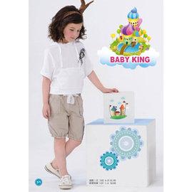 BABY KING 6182五分平織女童褲90cm^~140cm