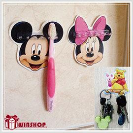 【Q禮品】 B1543 迪士尼掛架/台灣製造正版授權迪士尼牙刷架多功能掛架專利商品神奇貼片