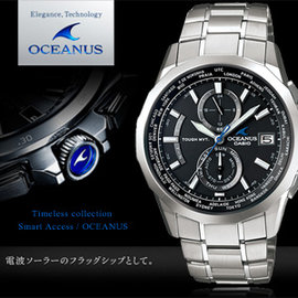 ~ 0利率~ OCEANUS 高科技智慧電波錶 42mm OCW~S2000~1A2 太陽