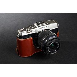 *DGmate數位碼頭* TP 【Leica D-LUX6 開底式 專用 手工 相機皮套】相容原廠 DLUX6 復古真皮 二段式開孔相機底座+上套(變焦鏡頭保護套)