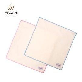 Epachi新品有機棉水藍色手帕 口水巾^(一組二入^)