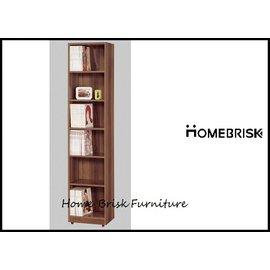 ~宏興HOME BRISK~卡洛斯1.5尺淺胡桃色開放式書櫃, 全省西部市區免 ,~QM新