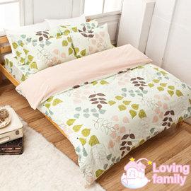 ~戀家小舖~純棉床包  雙人加大~草本情迷~綠~含兩件枕套 ^( 699 10件^)