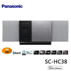 Panasonic 國際牌 藍牙/USB組合音響 SC-HC38-S / SCHC38 **免運費**