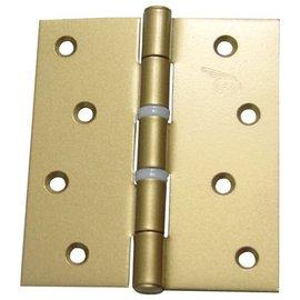 砲車牌 烤金色平頭塑膠圈鉸鏈/丁雙/後鈕 4英吋X 3 1/2英吋(1付)★一般木門適用(附螺絲釘)