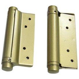 坦克車 鋁門專用自動丁雙/鉸鍊/後鈕 4英吋單開(1付)★一般鋁門適用(附螺絲釘)