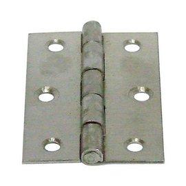 白鐵丁雙/鉸鍊/後鈕 2英吋1.2mm厚★一般木門適用(附螺絲釘)