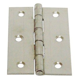 白鐵丁雙/鉸鍊/後鈕 2 1/2英吋1.2mm厚★一般木門適用(附螺絲釘)
