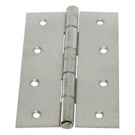 白鐵丁雙/鉸鍊/後鈕 4英吋1.2mm厚★一般木門適用(附螺絲釘)