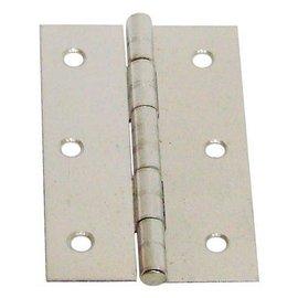 白鐵丁雙B級/鉸鍊/後鈕 2 1/2英吋★一般木門適用(附螺絲釘)