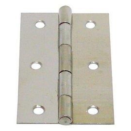 白鐵丁雙B級/鉸鍊/後鈕 3英吋★一般木門適用(附螺絲釘)