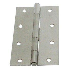 白鐵丁雙B級/鉸鍊/後鈕 4英吋★一般木門適用(附螺絲釘)