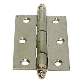 白鐵義星丁雙/鉸鍊/後鈕 2英吋1.2mm厚★一般木門適用(附螺絲釘)