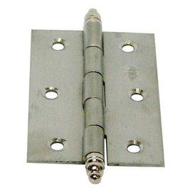 白鐵義星丁雙/鉸鍊/後鈕 2 1/2英吋1.2mm厚★一般木門適用(附螺絲釘)