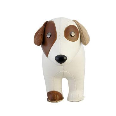 【zuny classic动物造型书档】皮质罗素梗犬造型摆饰书档(白色)
