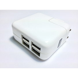 apple平板 iphone5/ipod/ipad mini/ipad2//ipad3/ new ipad USB充電器/充電頭/旅充頭 2.1A/2A (4 阜USB)  [OBM-00018]