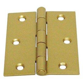 砲車 烤漆角型丁雙/鉸鍊/後鈕 3英吋★一般木門適用(附螺絲釘)
