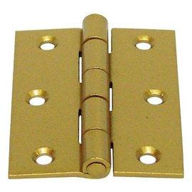 砲車 烤漆角型丁雙/鉸鍊/後鈕 2 1/2英吋★一般木門適用(附螺絲釘)