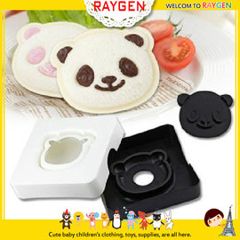 【HH婦幼館】日單DIY熊貓三明治製作器/微笑烤麵包機吐司盒/點心製作/麵包模具