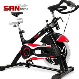 【SAN SPORTS】黑爵士23KG飛輪健身車 C165-023 (6倍強度.23公斤飛輪車.室內腳踏車.飛輪競速車.有氧健身車.推薦)