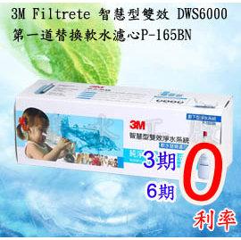 《免運費》《分期0利率》3M DWS-6000/DWS6000-ST智慧型雙效淨水系統..第一道替換軟水濾心P-165BN