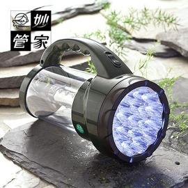 探險家戶外用品㊣HKL~8043L 妙管家燈霸LED充電式兩用燈 免換電池^(露營燈 登山