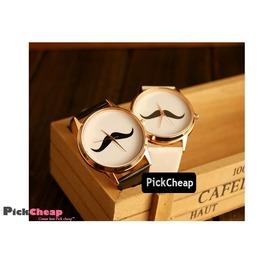 撿 Pick Cheap~3W240716~ 韓國復古 小鬍子手錶  男女情侶錶學生錶 現