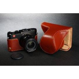 *DGmate數位碼頭* TP 【Leica X Vario 開底式 專用 手工 相機皮套】相容原廠 X Vario 復古真皮 二段式開孔相機底座+上套(變焦鏡頭保護套)