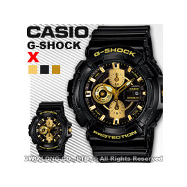 CASIO手錶 國隆 CASIO G~Shock_GAC~100BR~1A_黑金狂潮重機金