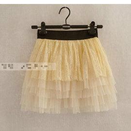 甜美~層層蕾絲款~蓬蓬小短裙 紗裙 大童可穿