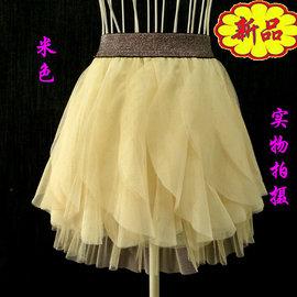 甜美~片片蕾絲款~蓬蓬小短裙 紗裙 大童可穿A6~4