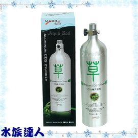 【水族達人】【CO2設備】台灣MACRO 《CO2專用鋁瓶-向上型1L(011T)》二氧化碳