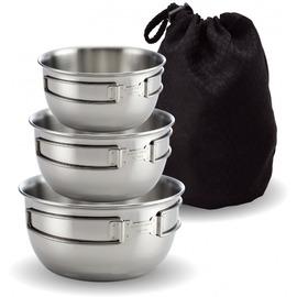 探險家戶外用品㊣ST-2020-2文樑 頂級#304不鏽鋼碗三件式 附收納袋 (湯碗.餐具 廚具 鍋具