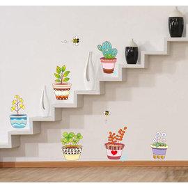 繽紛綠意 第三代可移除牆貼~可重覆撕貼!樓梯過道走廊臥室兒童房廚房餐廳裝飾 /牆角貼/壁貼/壁紙牆紙
