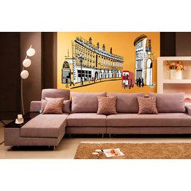 浪漫歐旅系列 羅馬假期 第三代可移除牆貼~可重覆撕貼! 大型客廳電視牆沙發背景/壁貼/壁紙牆紙