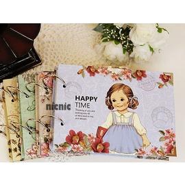 ~╮A咖會社賣場╭~韓國可愛女孩洋娃娃 DIY粘貼式包角相冊 送角貼 相冊^(可超取^)