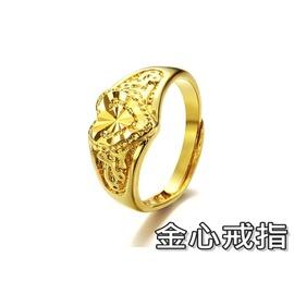 ~316小舖~~KC02~ 奈米電鍍18K金戒指~金心戒指~單件價 18K金戒指 18K真